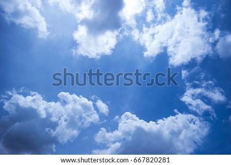 Beautiful sky with beautiful clouds - Shutterstock ID 667820281