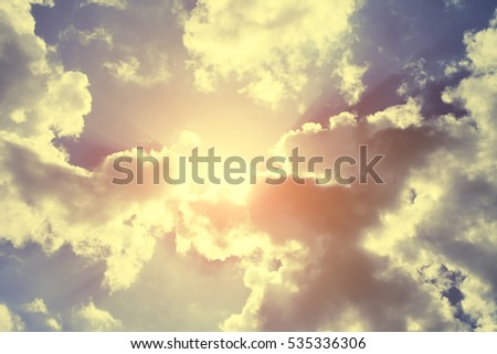 beautiful sky with clouds and...
