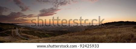 Beautiful Skyline Boulevard atop California's Santa Cruz Mountains #92425933