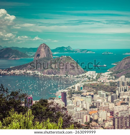 beautiful skyline view of rio...