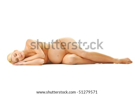 Beautiful sleeping pregnant woman