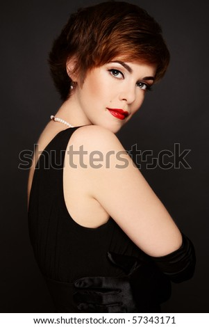 redheads makeup. redhead woman with stylish