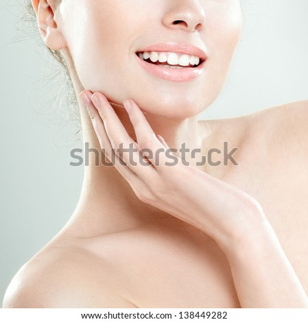 Beautiful smile of a young woman
