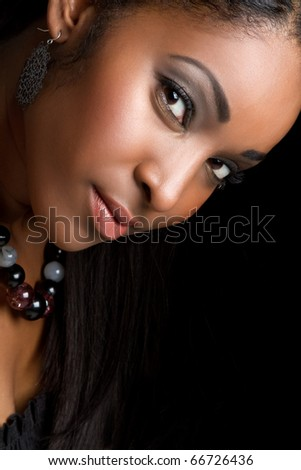 Beautiful smiling african american woman