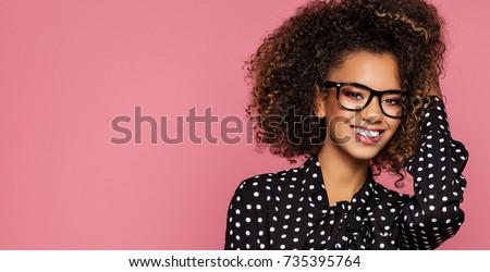Beautiful smiling black woman