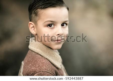 beautiful smiling boy