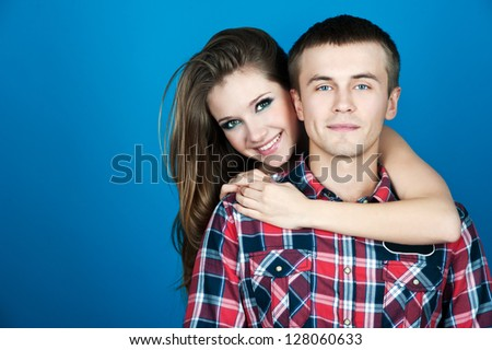 beautiful smiling couple