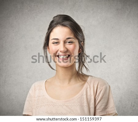 Shutterstock beautiful smiling girl
