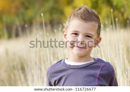 Beautiful Smiling Little Boy Portrait