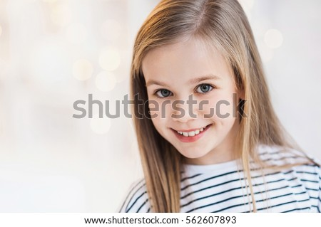 Beautiful smiling little girl portrait