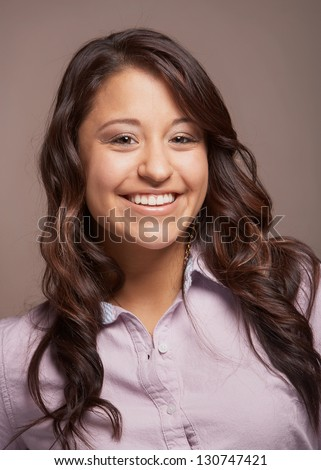 Beautiful smiling mixed race young woman portrait