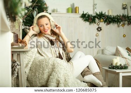 Beautiful smiling woman, fashion model