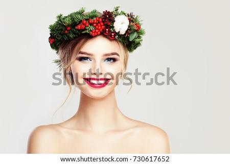 beautiful smiling woman fashion ...