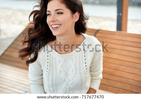 beautiful smiling woman in the...