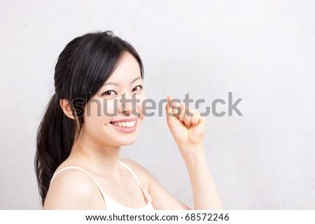 beautiful smiling young girl