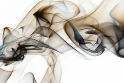 Beautiful smoke on the white background - macro photo