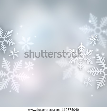 Beautiful snowflake Christmas background