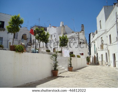 beautiful south italian small town,  Ceglie Messapica, Puglia, Italy,Europe