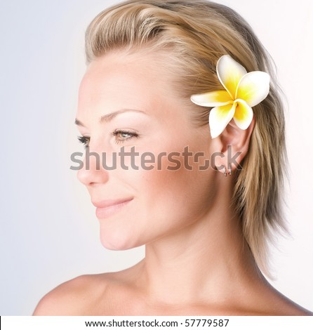 Beautiful Spa Girl face.Perfect clear skin concept
