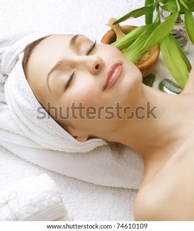 Beautiful Spa Woman.Clean skin. - stock photo