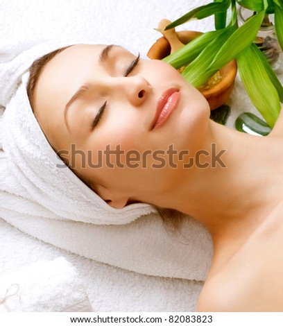 Beautiful Spa Woman. Clear Skin.Beauty Treatment