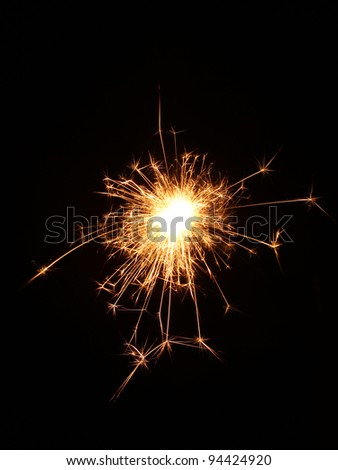 beautiful sparkler on black background