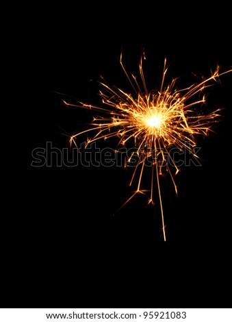 beautiful sparkler on black background