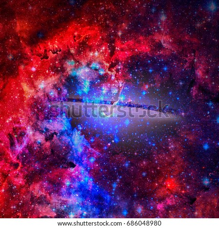 Beautiful spiral galaxy. Elements of this Image Furnished by NASA