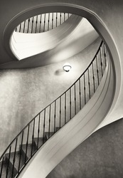 beautiful spiral staircase - looking up