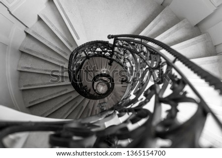 beautiful spiral staircases of an ancient building #1365154700