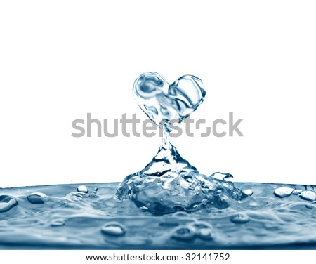 Beautiful splashes a clean water