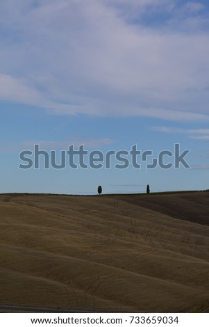 Beautiful spring landscape in Tuscany, Italy #733659034