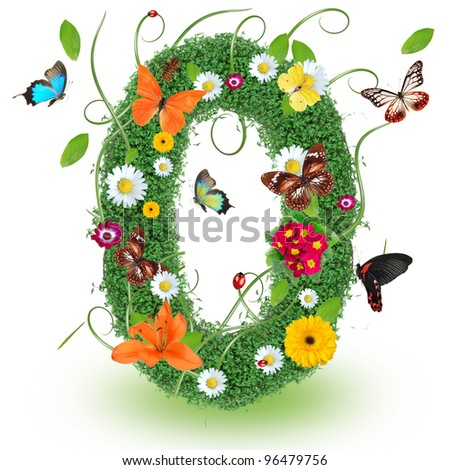 "Beautiful spring letter ""O"""