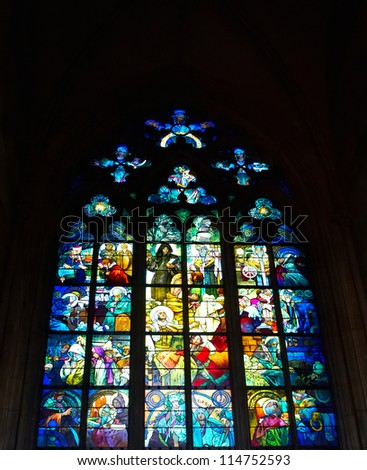 Beautiful stained glass in church