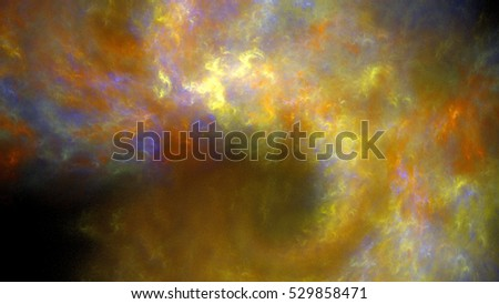 Beautiful starry sky. Bright hazy galaxy. 3D surreal illustration. Sacred geometry. Mysterious psychedelic relaxation pattern. Fractal abstract texture. Digital artwork graphic astrology magic