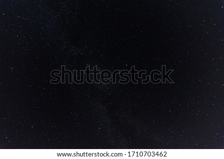 beautiful starry sky in the dark and black night sky stock photo