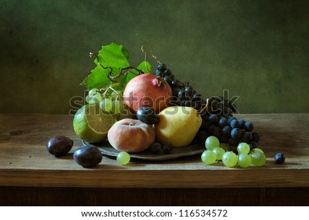 Beautiful still life with fruit