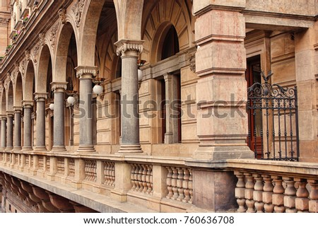 beautiful stone gallery with...