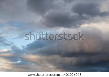 Beautiful storm clouds. Pre-stormy sky