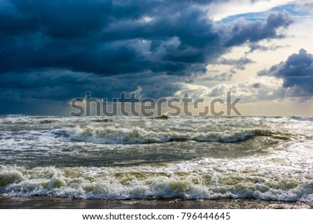 Beautiful storm - Fantastic sea colors #796444645