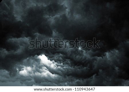 Beautiful storm sky with clouds, apocalypse like