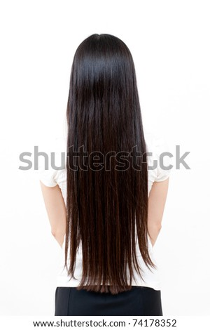 beautiful straight long hair - stock photo