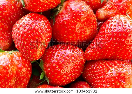 Beautiful strawberries close up