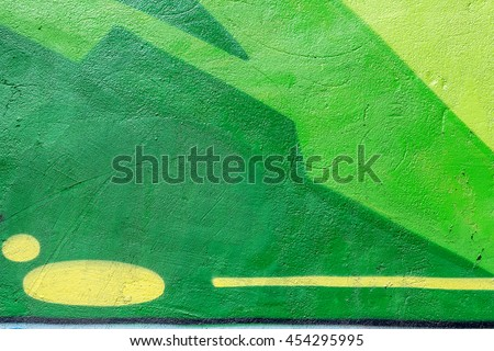 Shutterstock Beautiful street art of graffiti. Abstract color creative drawing fashion on walls of city. Urban contemporary culture. Title paint on walls. Culture youth protest. ABSTRACT PICTURE