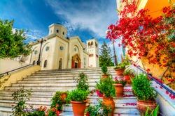 Beautiful street view in Kos Island. Kos Island is populer tourist destination in Greece.