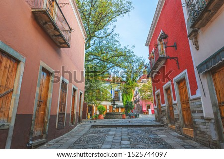 Beautiful streets and colorful facades of Guanajuato, Mexico