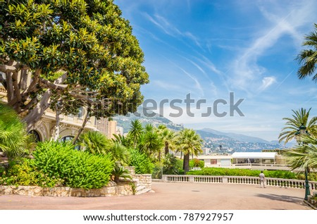 Beautiful streets and old luxury buildings of Monte Carlo, Monaco #787927957