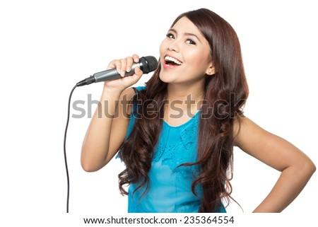 Asian lady singing
