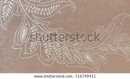 Beautiful, subtle floral ornament in brown and beige.