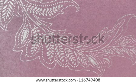 Beautiful, subtle floral ornament in violet and beige.